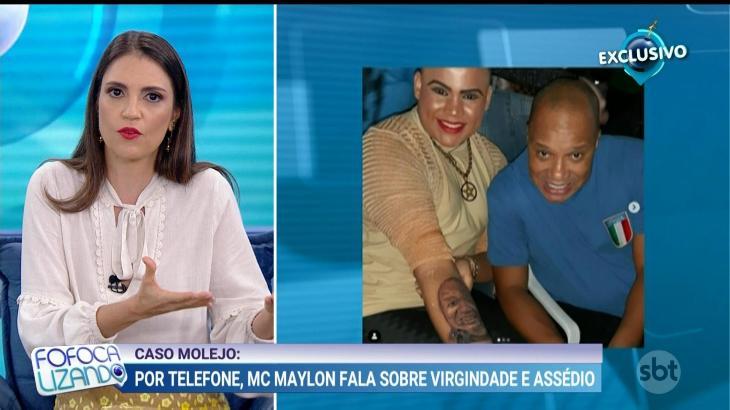Mc Maylon chora ao vivo ao falar sobre Anderson Molejo no SBT