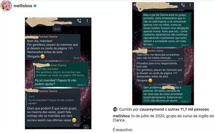 "Mel Lisboa se desculpa após polêmica com professora: \""Aprendendo\"""