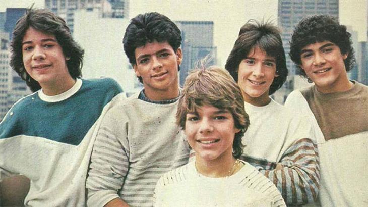Os integrantes do Menudo em 1985