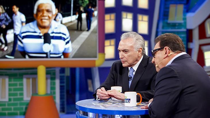 SBT define exibições das visitas de Michel Temer a Silvio Santos e Ratinho