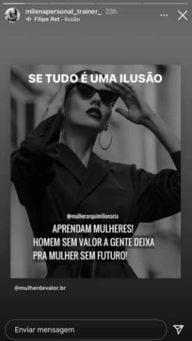 Ex de Diogo Nogueira manda indireta para Paolla Oliveira na web