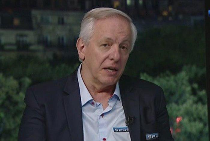 Milton Leite durante programa do SporTV