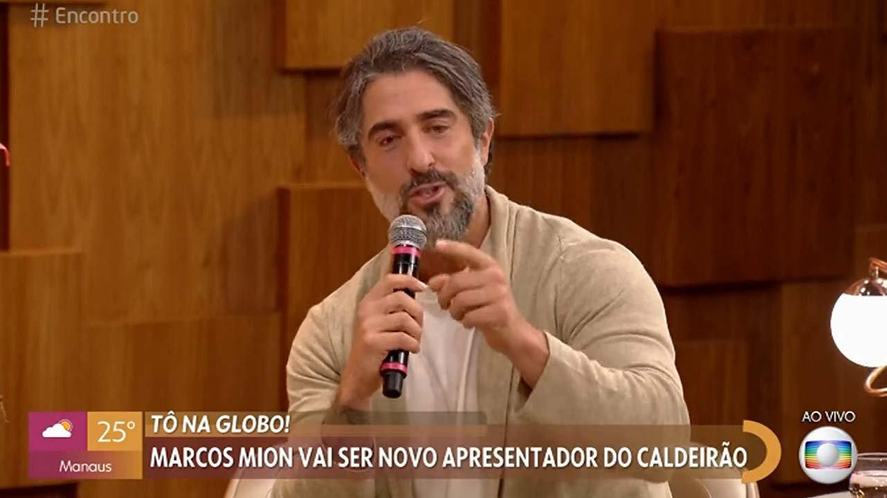 Marcos Mion falando no Encontro