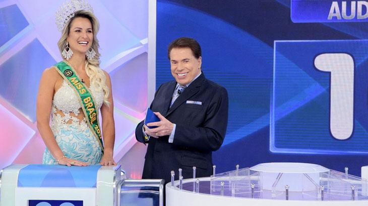 """Silvio Santos solta cantada para o Mister Brasil: \""""está no meu caderninho\"""""""