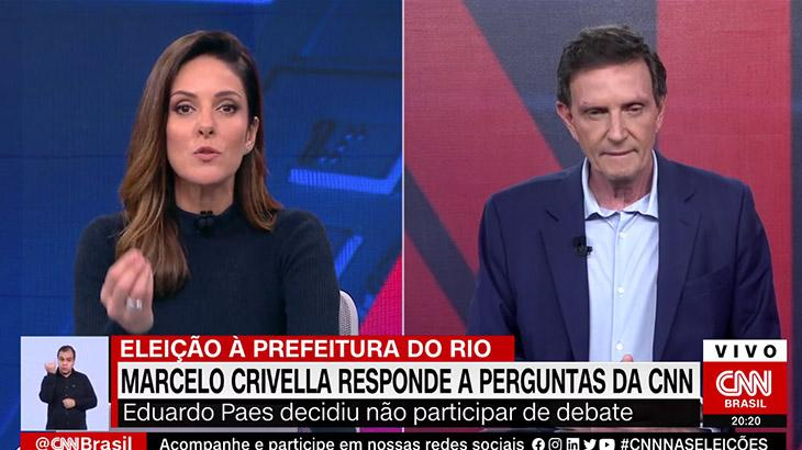 Monalisa Perrone repreende Marcelo Crivella no Expresso CNN