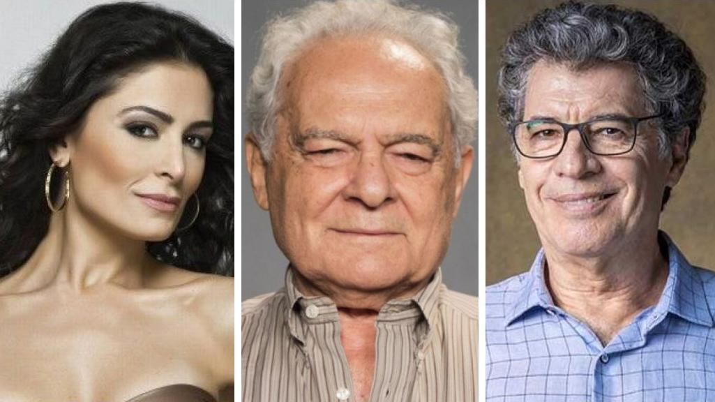 Franciele Freduzesky, Othon Bastos e Paulo Betti
