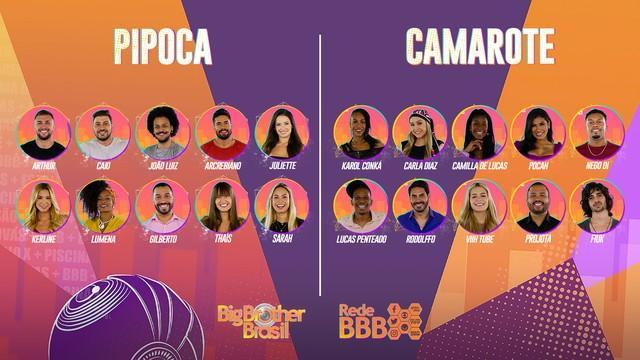 Mosaico dos participantes do BBB21
