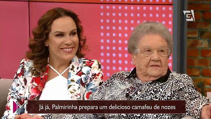 Palmirinha volta à Gazeta após sete anos e se emociona com homenagem