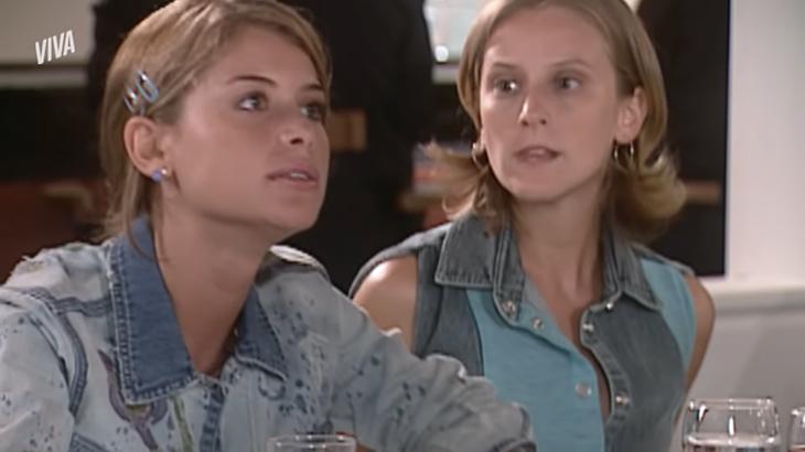 Alinne Moraes e Paula Picarelli em cena de Mulheres Apaixonadas