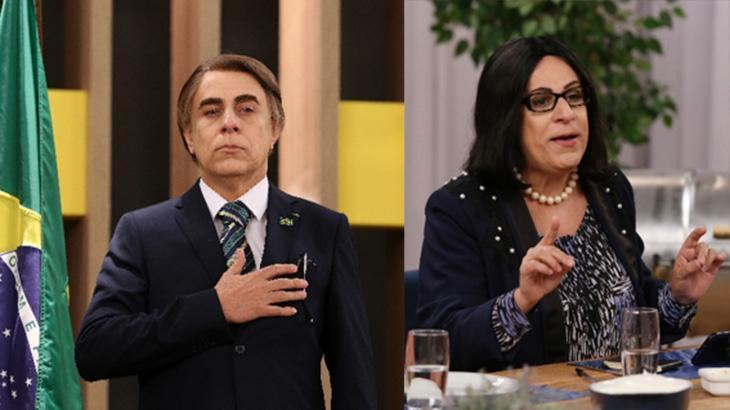 Tom Cavalcante como Jair Bolsonaro e Damares Alves