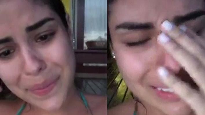 Munik Nunes chorando no Instagram