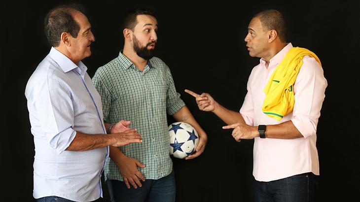 Hoje comentaristas, Muricy Ramalho e Denílson se reencontram no palco
