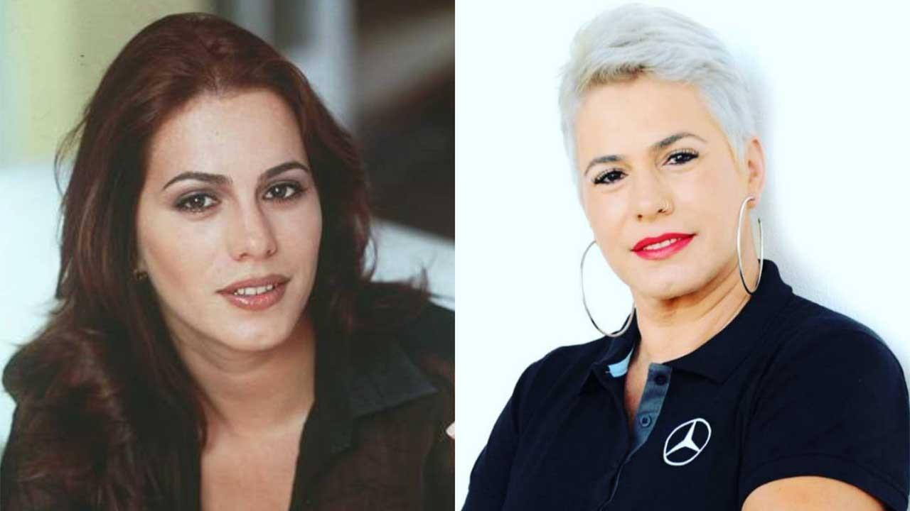 Débora Rodrigues nos anos 90 posada; Débora Rodrigues atualmente posada
