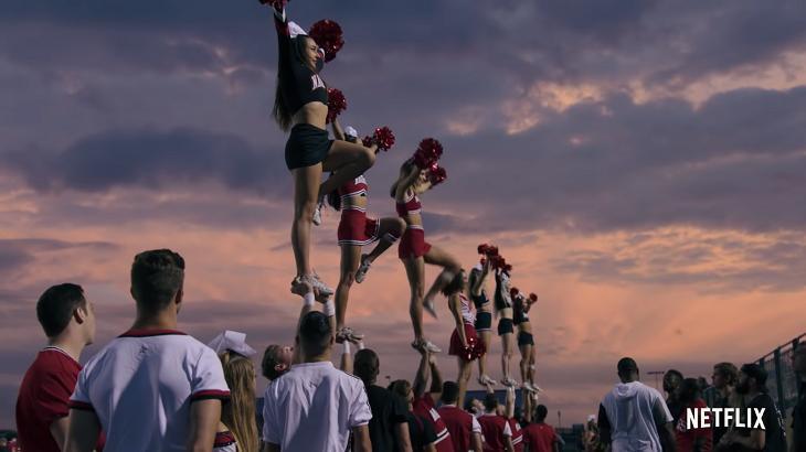 Cena do documentário Cheer