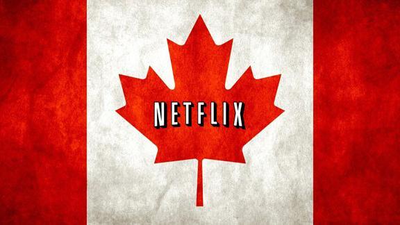 Netflix com a bandeira do Canadá