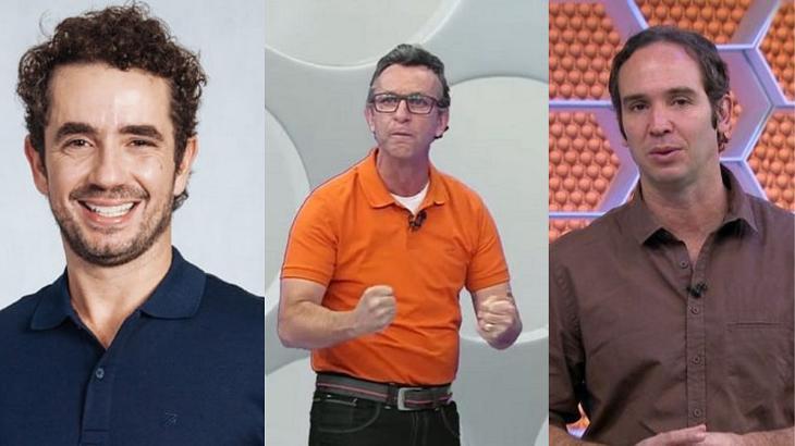 Neto, Felipe Andreoli e Caio Ribeiro em foto montagem