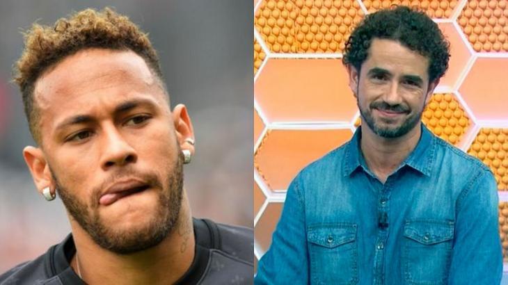Neymar e Felipe Andreoli em foto montagem