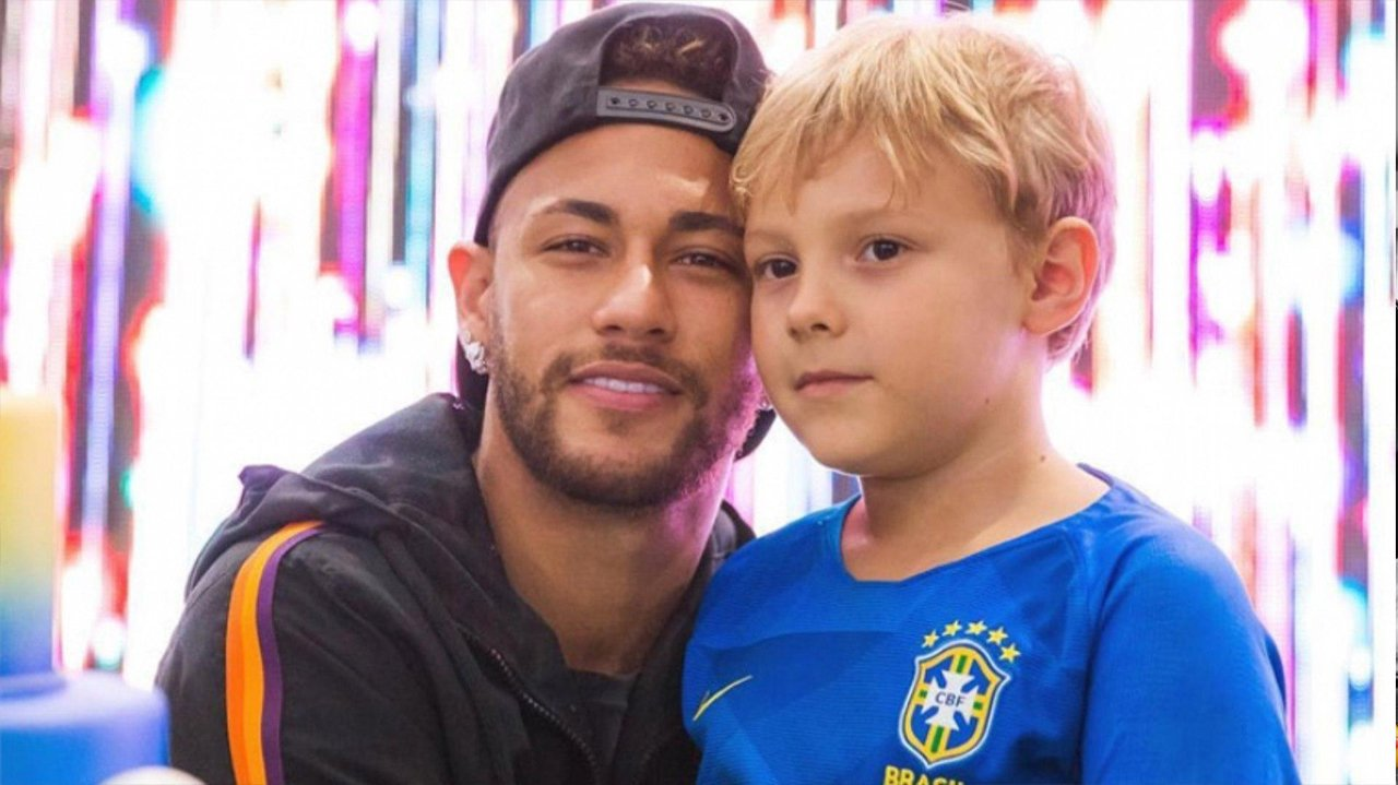Neymar e Davi Lucca