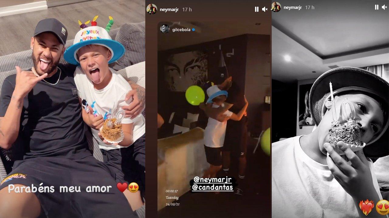 """Neymar publica fotos da festa do filho em Paris: \""""Meu amor\"""""""