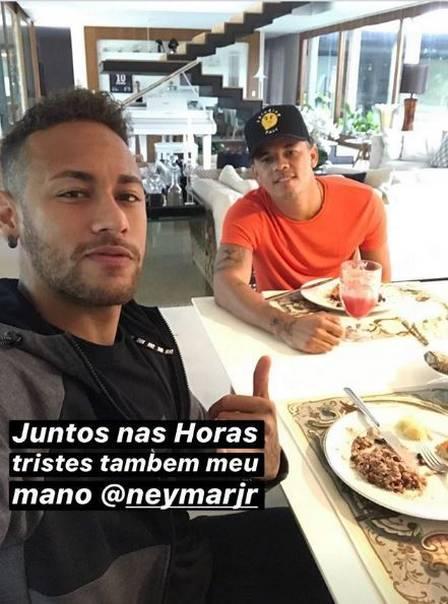 """Neymar Jr. recebe apoio de amigo: \""""Juntos também nas horas tristes\"""""""