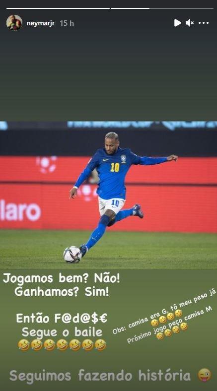 """Neymar se revolta com ataques sobre seu peso: \""""Na próxima eu peço tamanho M\"""""""