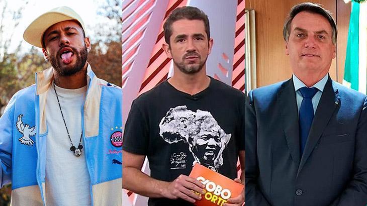 Neymar, Felipe Andreoli e Jair Bolsonaro