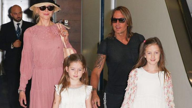 Nicole Kidman e suas filhas