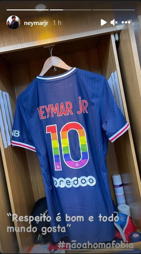 Neymar vai jogar com símbolo LGBT na camisa após ataque sofrido por Gil do Vigor