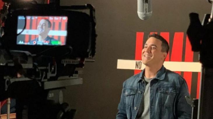André Marques durante gravação do No Limite
