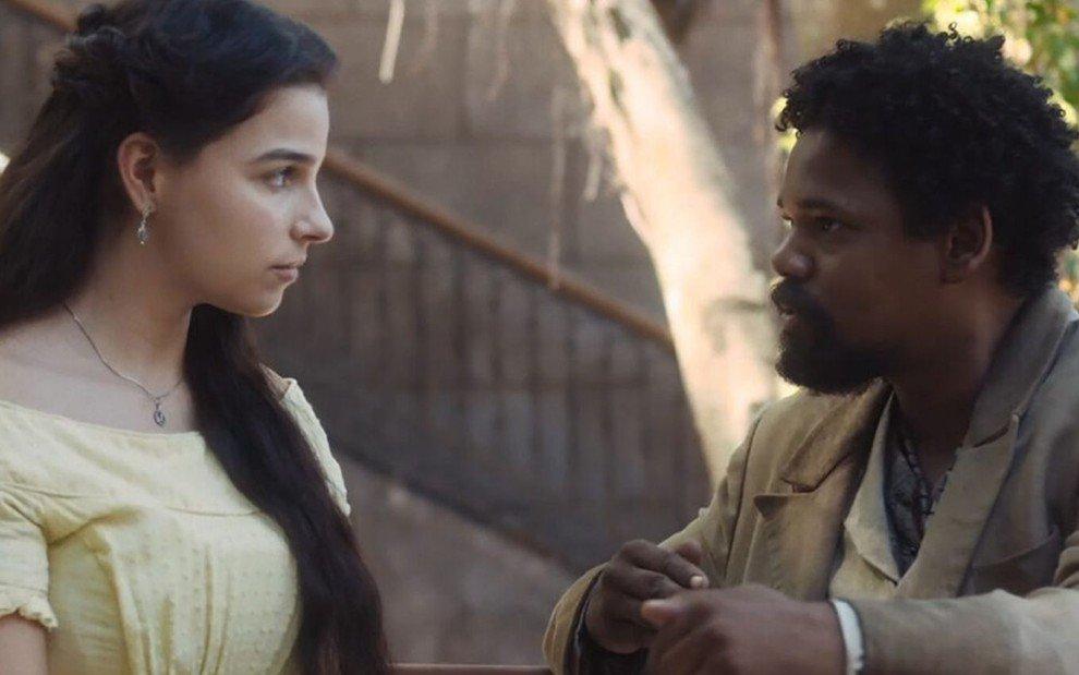 Nos Tempos do Imperador: Pilar e Samuel têm primeira noite de amor