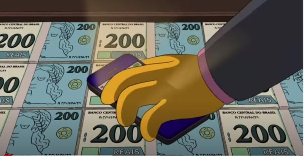 """Os Simpsons \""""previu\"""" nota de 200 reais em episódio no Brasil"""