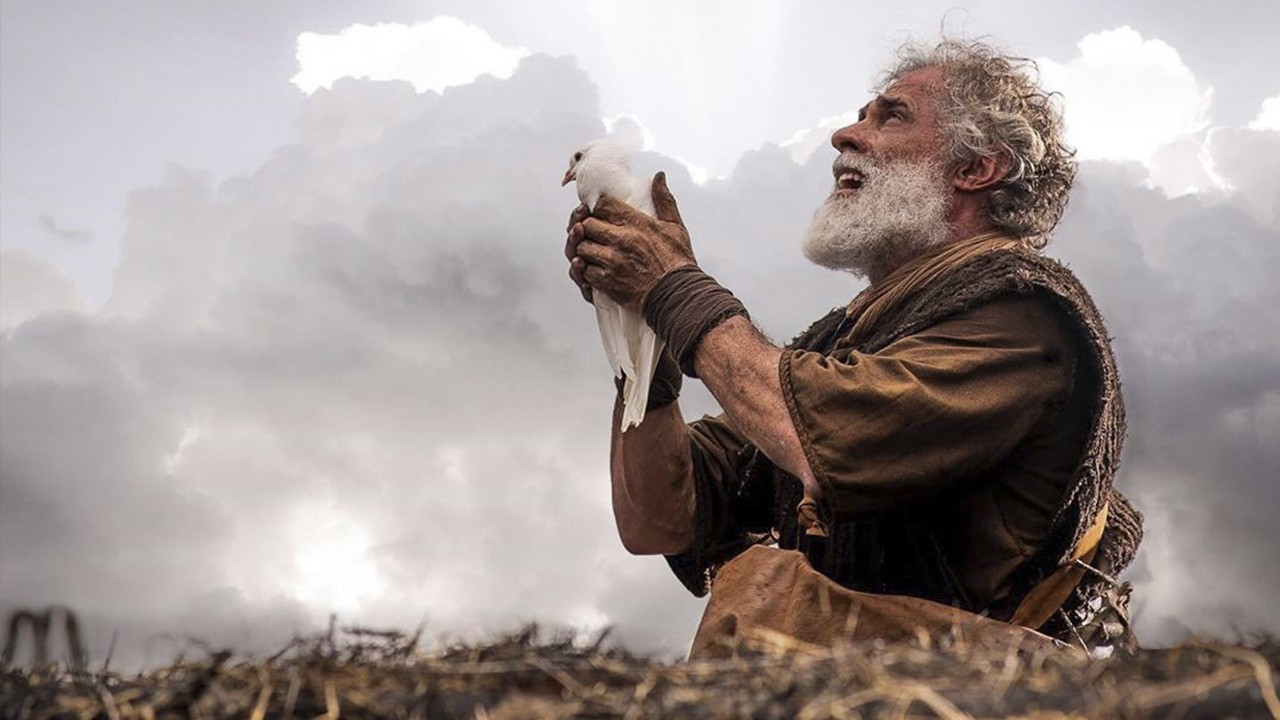 Noé em cena bíblica da novela Gênesis da Record