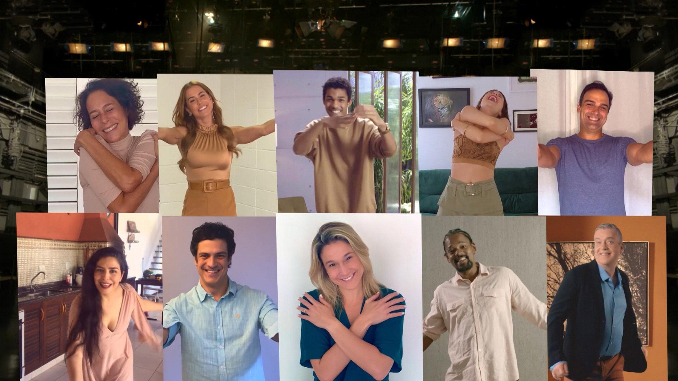 Artistas da Globo em vinheta Novo Tempo