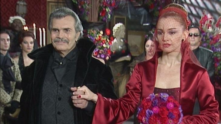 Tarcísio Meira e Julia Lemmertz em O Beijo do Vampiro