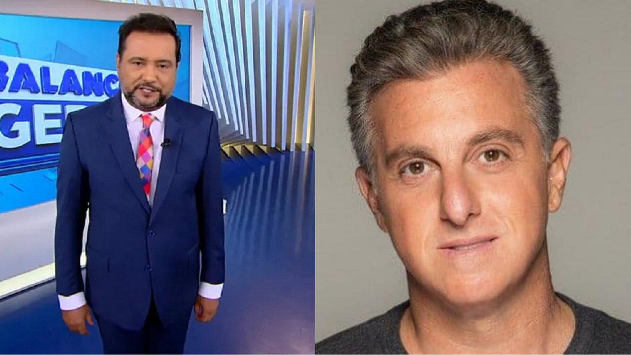 Geraldo Luís (à esquerda) e Luciano Huck (à direita) em foto montagem