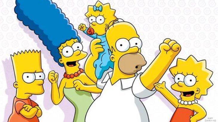 Personagens de Os Simpsons em ilustração