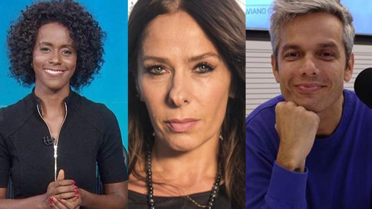 Maju Coutinho, Adriane Galisteu e Otaviano Costa
