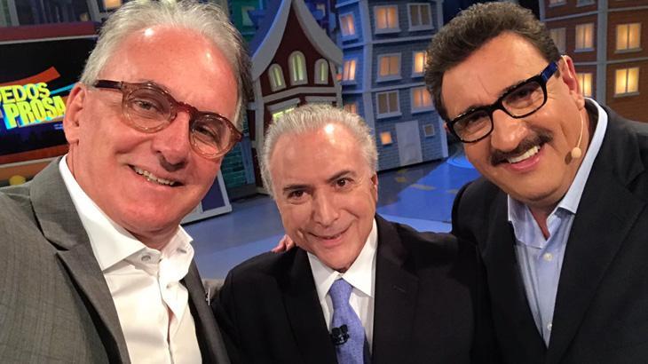 Otávio Mesquita acerta entrevista com Michel Temer para mostrar lado mais humano do presidente