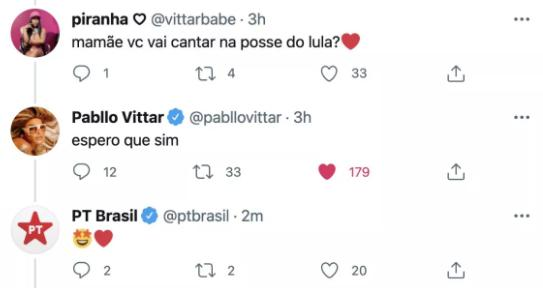 Pabllo Vittar quer cantar na posse de Lula em 2023