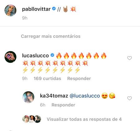 """Pabllo Vittar diz para Lucas Lucco após show no Rock in Rio: \""""Só faltou você mozão\"""""""
