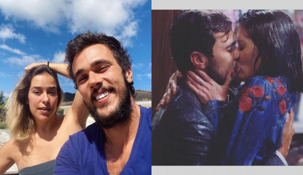 Montagem com fotos de Paloma Duarte e Bruno Ferrari e do beijo de Rafael e Kyra na final de Salve-se Quem Puder
