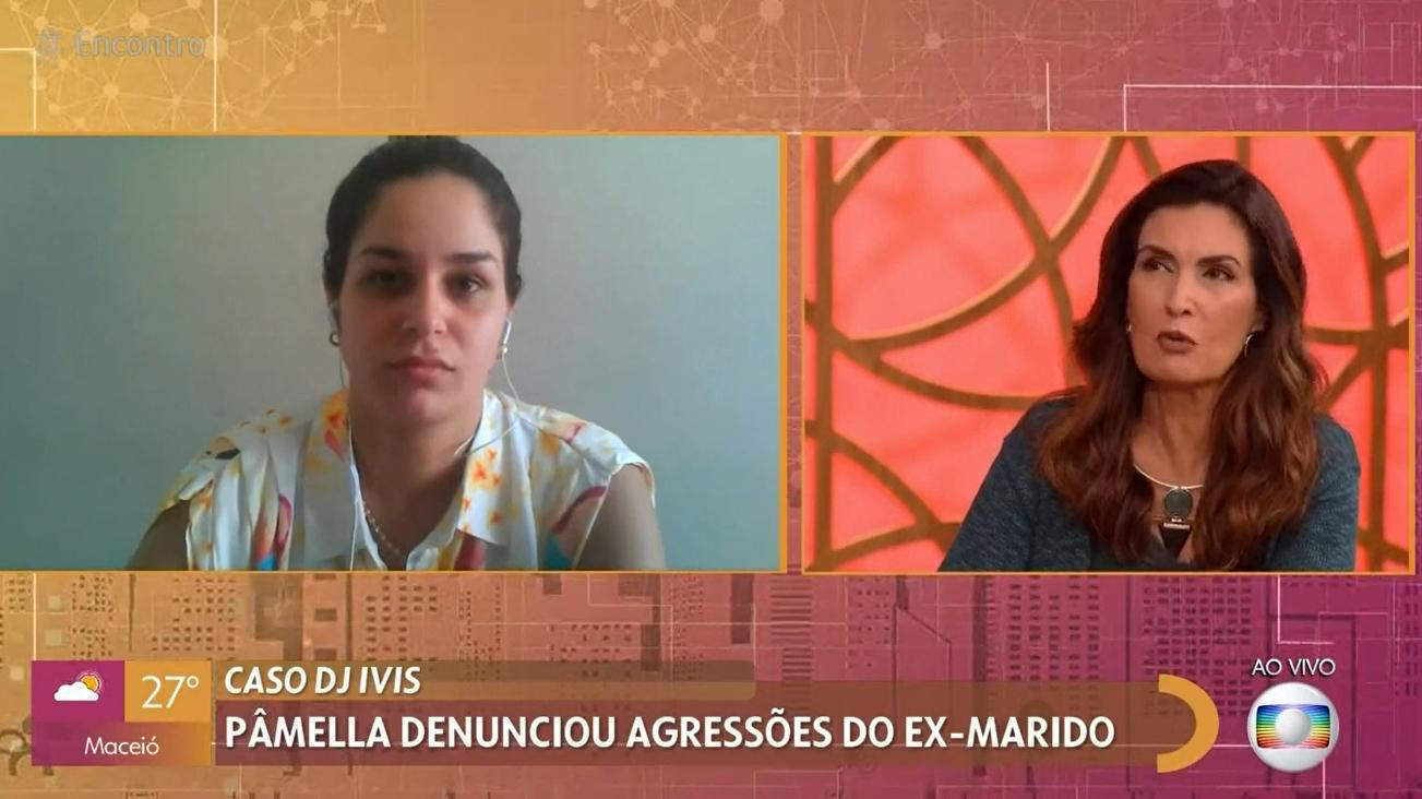Pamella no Encontro com Fátima Bernardes