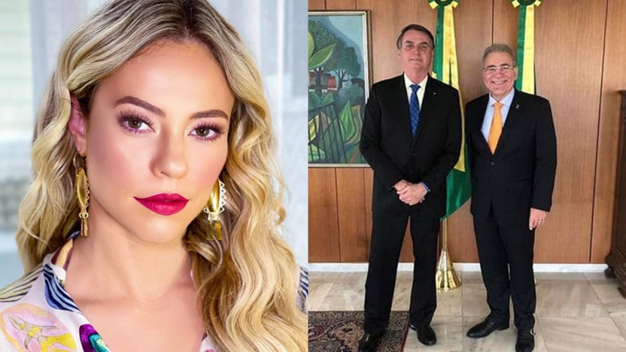 Paolla Oliveira, Jair Bolsonaro e Marcelo Queiroga