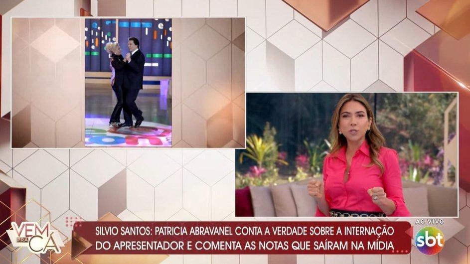 Patrícia Abravanel no Vem pra Cá falando de Silvio Santos