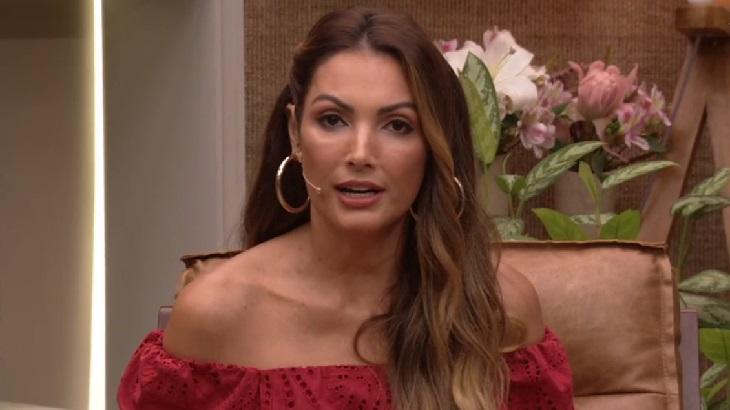 Patrícia Poeta na apresentação do É de Casa, da Globo