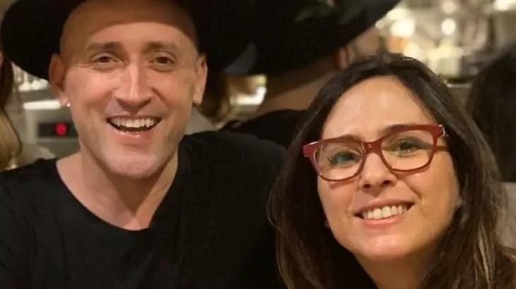 Paulo Gustavo e Tatá Werneck posam juntos para foto