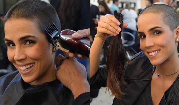 """Pérola Faria raspa o cabelo para novela pelo desafio: \""""Não precisava\"""""""