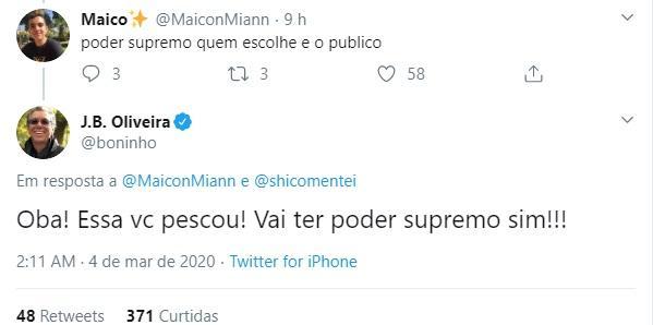 BBB20: Poder Supremo tem volta anunciada por Boninho