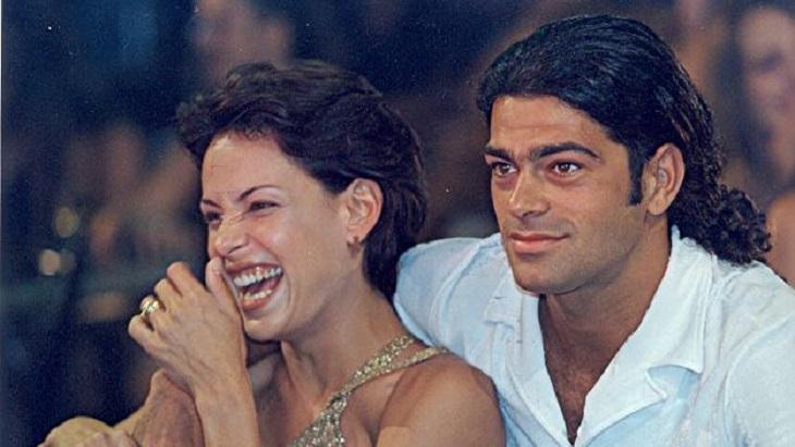 Carolina Ferraz e Du Moscovis em Por Amor