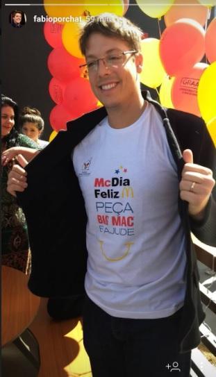 Fábio Porchat comparece no McDia Feliz e fala sobre campanha